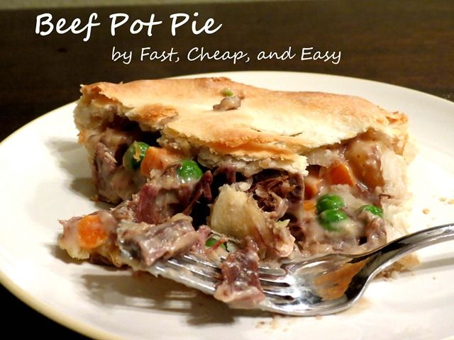 beef pot pie fast cheap and easy2 | Food & Drink | Pinterest
