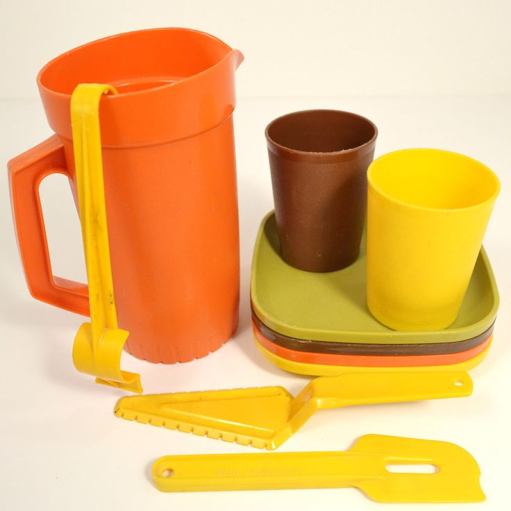 Image detail for -Tupperware Toy Dishes Vintage 1980's Pitcher by RibbonsAndRetro