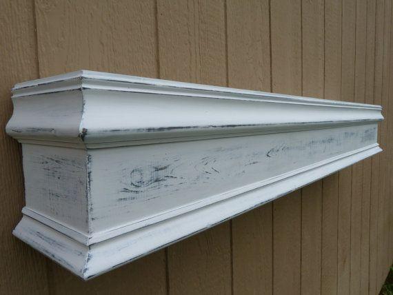 48 l white fireplace mantel shelf floating shelf wooden