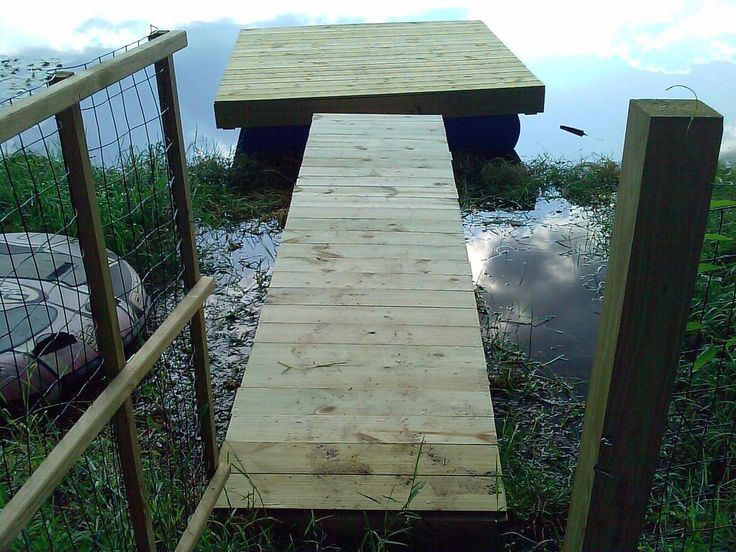 Build A Floating Dock For The Pond