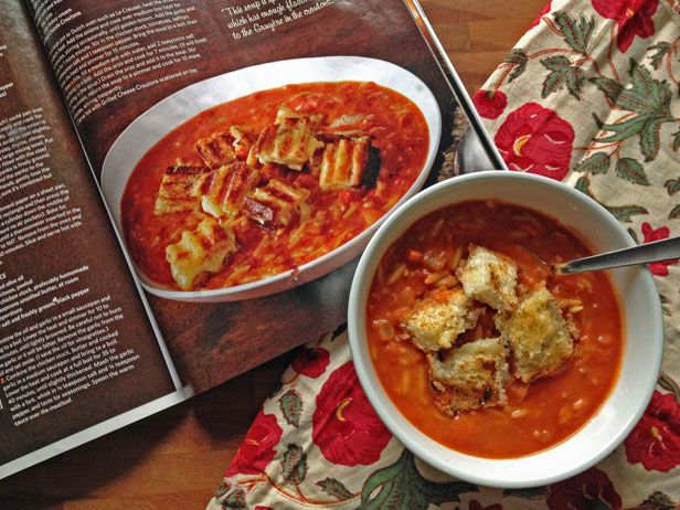 Easy Tomato Soup with Grilled Cheese Croutons (Barefoot Contessa)