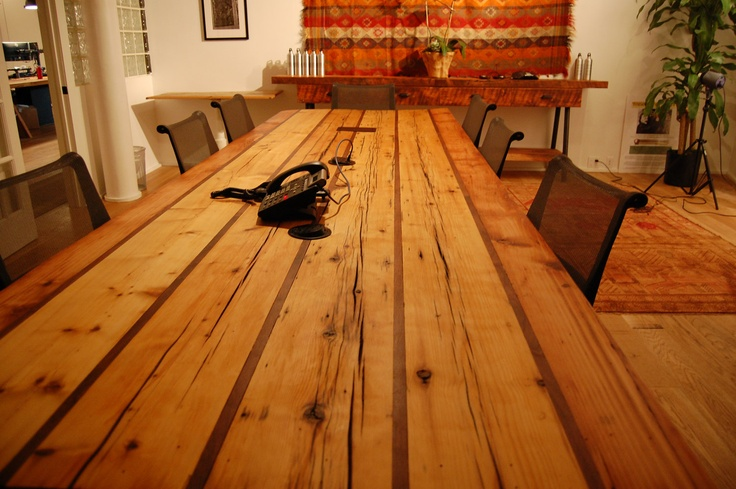 Reclaimed wood conference table office furniture 5 400 00 via