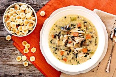 Creamy Turkey (or Chicken!) and Wild Rice Soup | Tasty Kitchen
