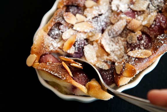 cherry almond clafoutis | what to cook (sweets): | Pinterest
