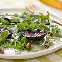 Roasted Beets with Arugula and Edamame #HealthyAperture.com