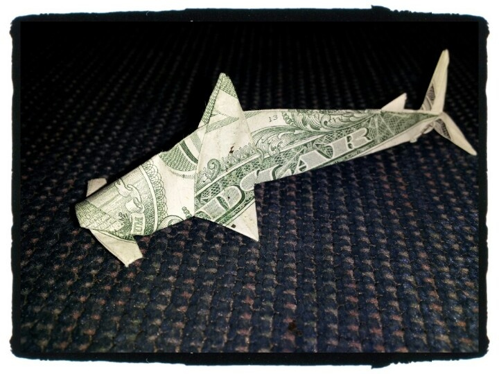 Hammerhead Shark | Money Origami | Pinterest