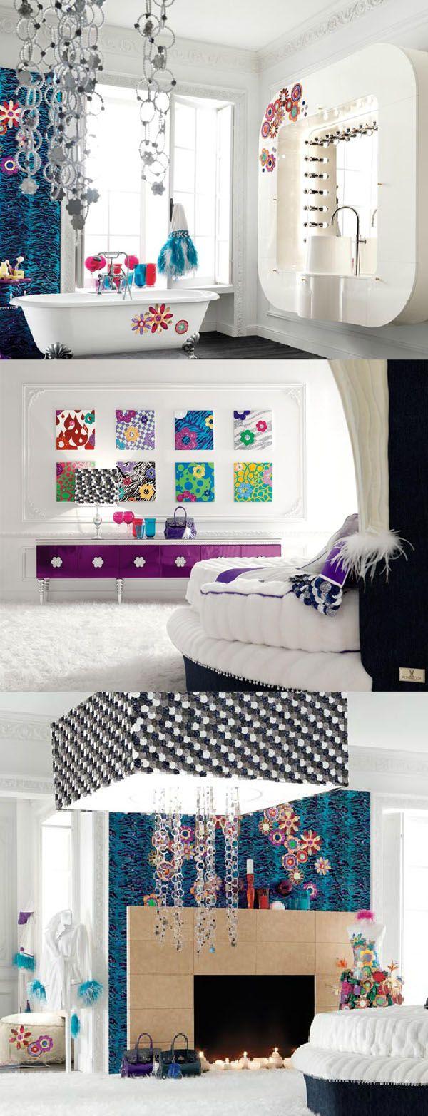 Deco baroque barroco design dise o bedroom girly chambre for Deco chambre girly