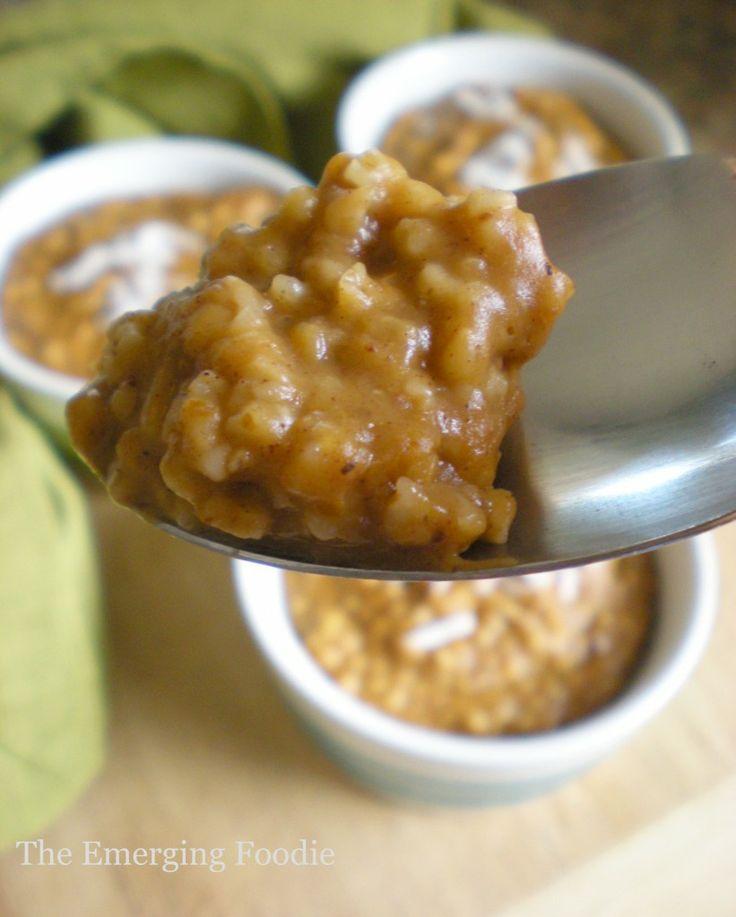 Pumpkin Steel Cut Oatmeal | Let's Eat | Pinterest