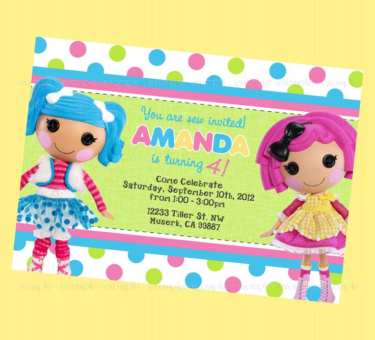 Lalaloopsy Party Invitations is good invitations template