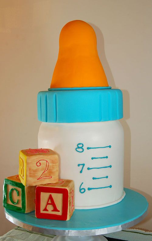 Baby Bottle Cake Images : Baby Shower Bottle Cake Olya s Baby Shower Pinterest