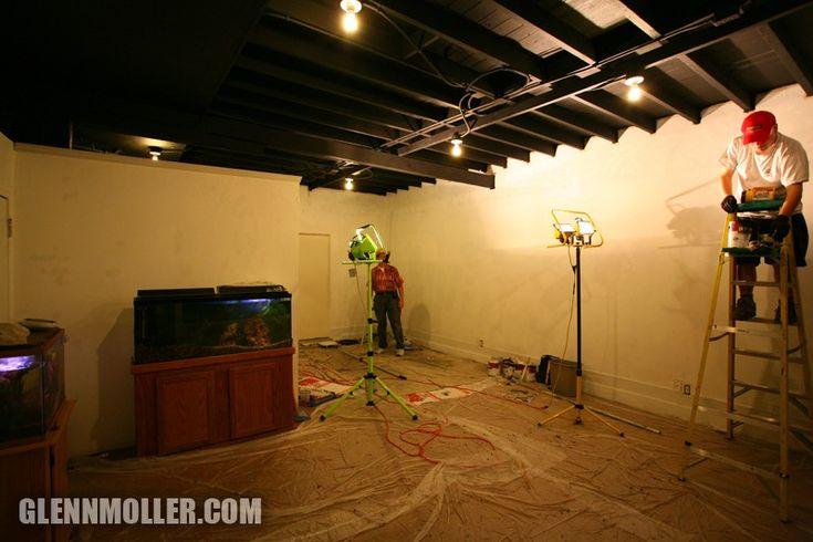 Painted Exposed Ceiling Basement Basement Pinterest
