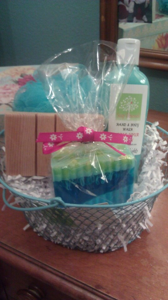 how to make a soap gift basket