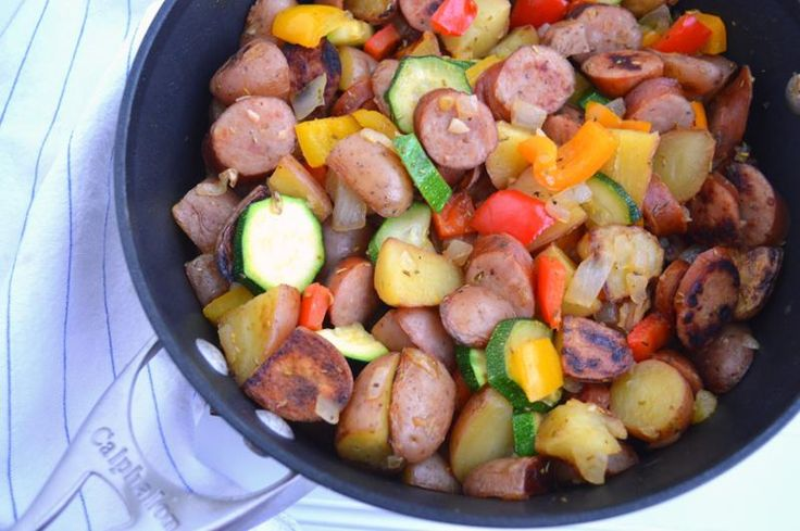 One-Pot Chicken With Sausage And Potatoes Recipe — Dishmaps