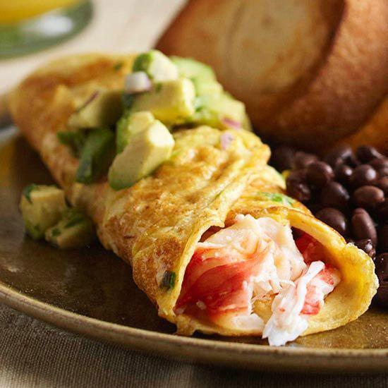 Guacamole Omelette With Salsa Recipe — Dishmaps