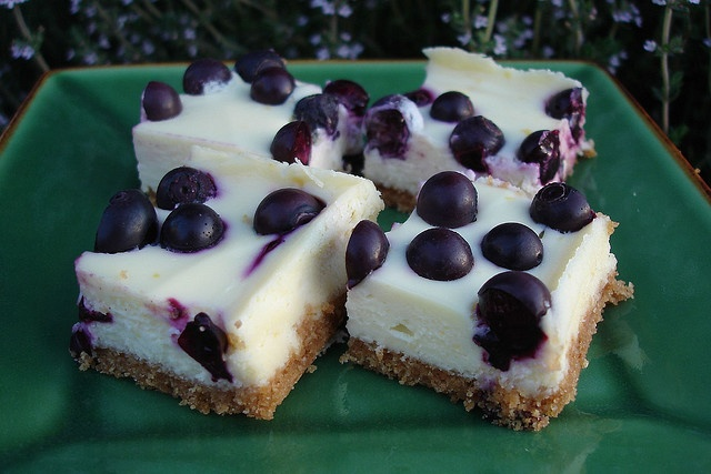 Blueberry Cheesecake Squares Recipe — Dishmaps