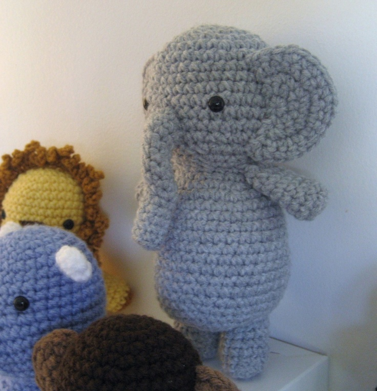Crochet Patterns For Jungle Animals : Amigurumi Patterns Crochet Safari Animals Pattern Set by ...