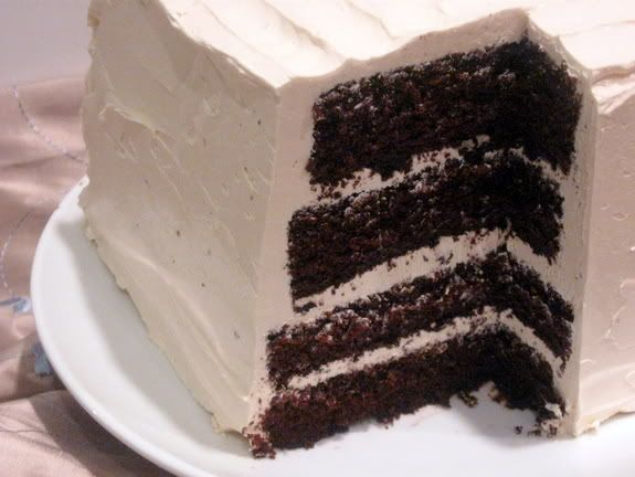 devils food cake with white frosting | Desserts | Pinterest