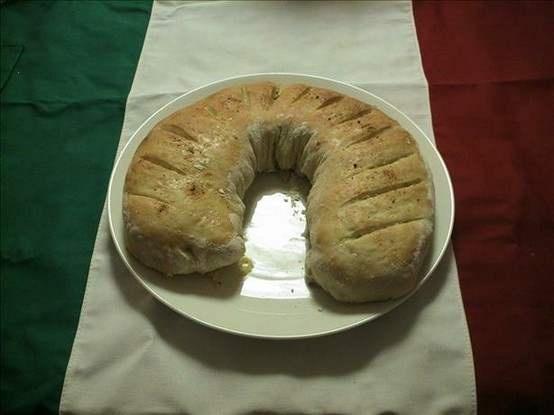 sausage bread (uses johnsonville hot italian sausage and bridgeford frozen bread dough)