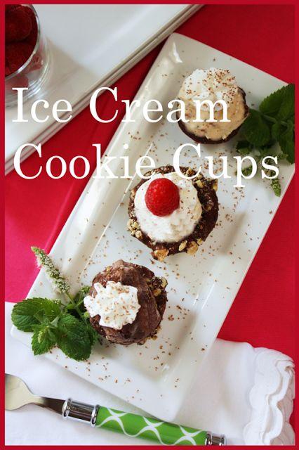 StoneGable: MINI ICE CREAM COOKIE CUPS | Desserts | Pinterest