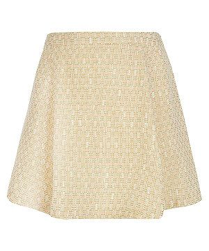 Pink Pattern (Pink) Miss Real Curve Yellow and Pink Boucle Skirt | 283064679 | New Look