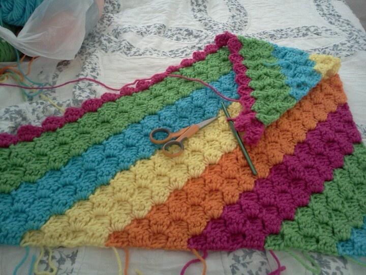 Crochet Pattern Diagonal Afghan : Toddler diagonal crochet Afghan! Knitting/Crocheting ...
