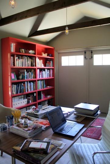 The garage home office of bon app tit 39 s heather john for Garage home office