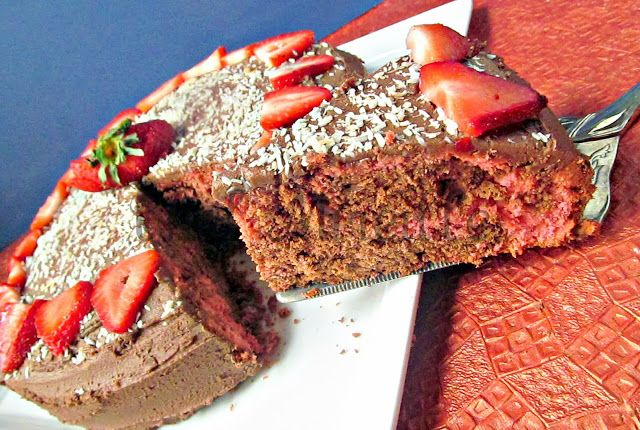 ... strawberry marble cake!   All kinds of neat breads and cake