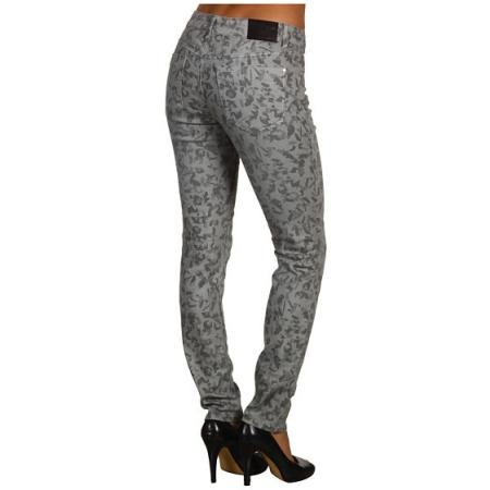 DKNY Jeans Camo Printed Jegging Women's Clothing - Grey Combo