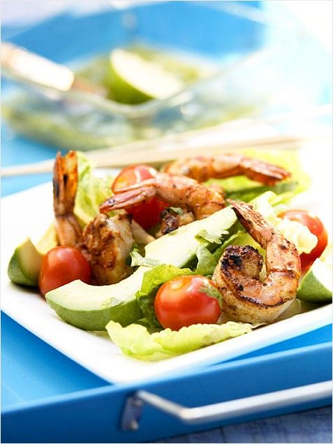 Grilled Shrimp And Avocado Salad With Asian Vinaigrette Recipes ...