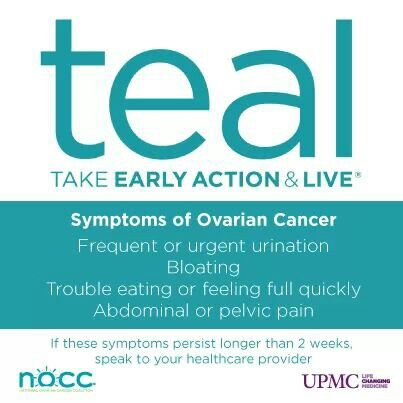Ovarian Cancer Awareness ~ Teal ( Take Early Action & Live ) ~ National Ovarian Cancer Coalition