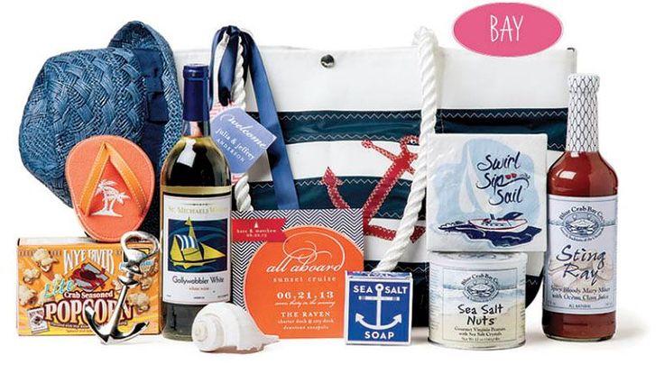 Beach Wedding Gift Basket Ideas : ... Sailing Beach Themed Wedding Gift Bags Wedding Gift Basket Ideas