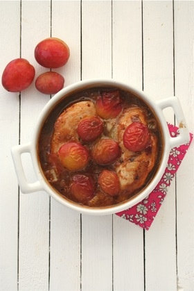 Baked chicken with Plums, Ginger, and Soy. Healthy and fall-like with ...
