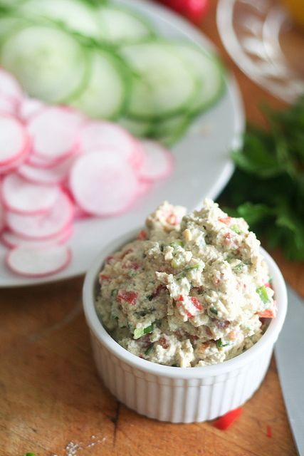 Cucumber and Radish Wrap with Tofu Spread