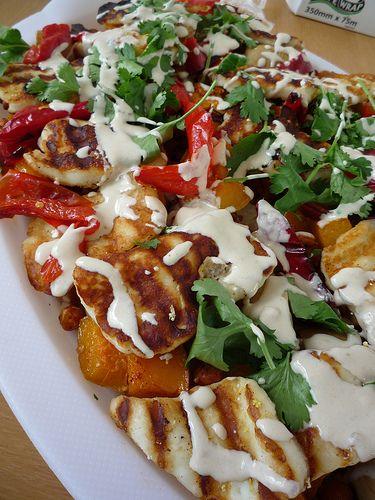 Salad with Halloumi & Grilled Vegetables | Vegetarian/Pescetarian Rec ...