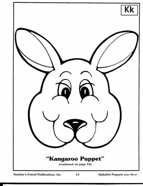 Kangaroo puppet 2 2 teatro pinterest for Kangaroo puppet template