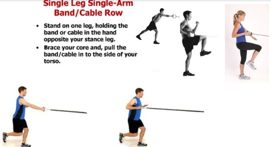 ... train single leg balance, rotational stability, & scapular stability