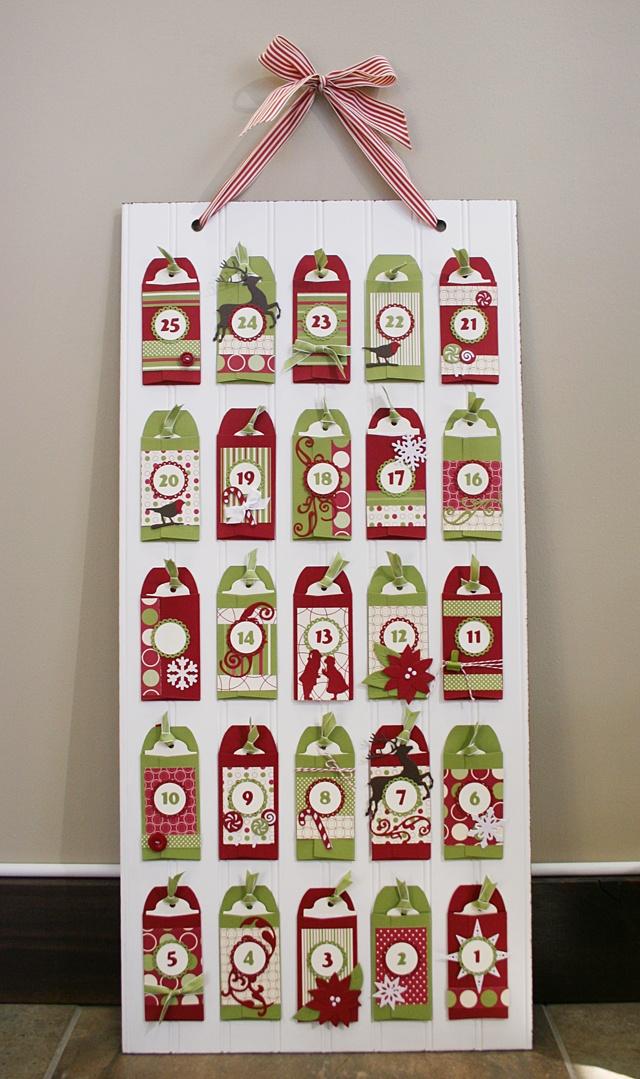 Envelope advent--I like the beadboard backing