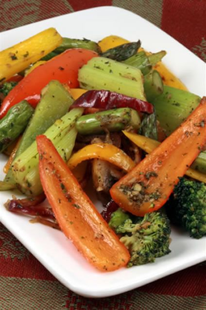 This grilled salad combines warm grilled vegetables with salad ...