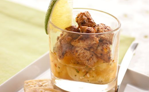 Epicure's Jamaican Jerk Chicken with Pineapple Salsa for Verrines ...