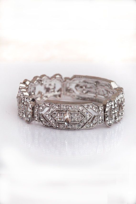 Vintage Wedding Bracelet Vintage Inspired Art Deco Wedding Bracelet