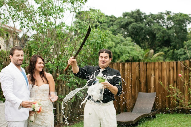 fun way to kick off a champagne toast, photo by Chelsey Boatwright Photography