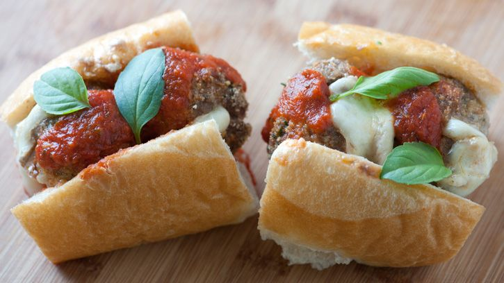 Filled with pepperoni and mozzarella, these crowd-pleasing meatballs ...