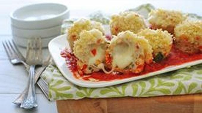 ... stuffed chicken meatloafs topped with crispy panko amp parmesan cheese