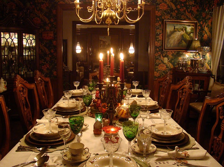 Elegant thanksgiving dinner table autumn pinterest How to decorate your house for thanksgiving