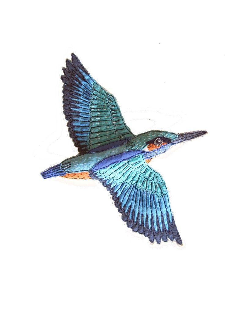 Flying kingfisher bird - photo#14