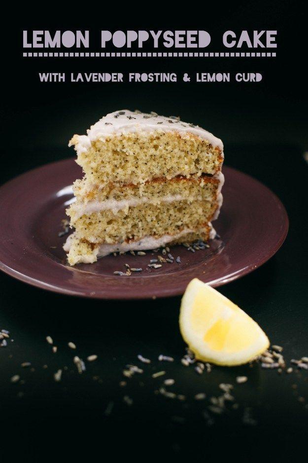 Lemon Poppyseed Layer Cake with Lavender Buttercream & Lemon Curd ...