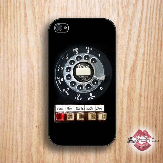 Rotary phone retro phone case --