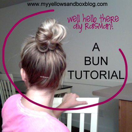 easy top knot tutorial