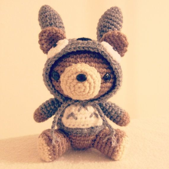 Totoro Costume Hoodie Bear PDF - Amigurumi Crochet pattern