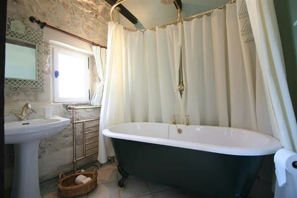 Roll Top Shower Curtain Bathroom Pinterest